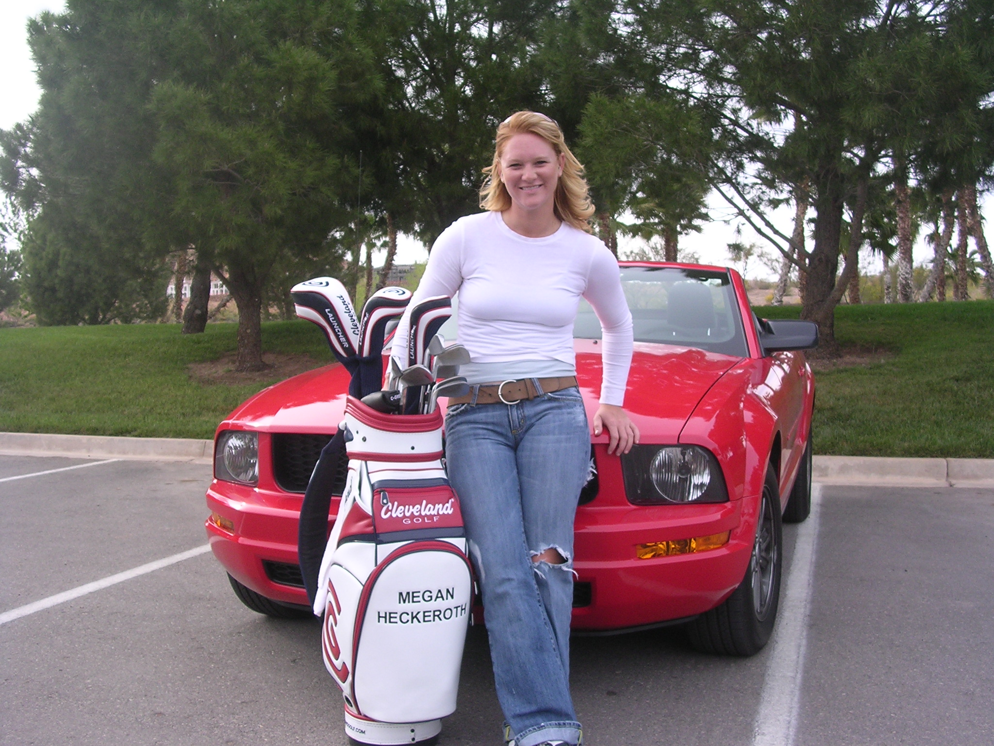 Megan Heckeroth with her Ford Mustang