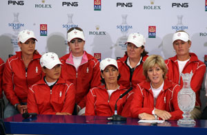 USA Solheim Cup Team with Michelle Wie (bottom left)