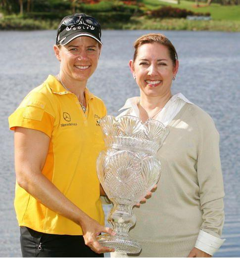 Sorenstam and Bivens during happier times at the 2005 ADT Championship